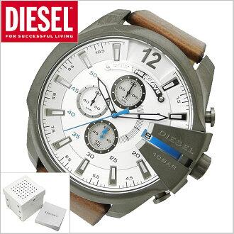 bell field rakuten global market diesel diesel chronograph diesel diesel chronograph watch mega chief white x brown mega chief men dz4280