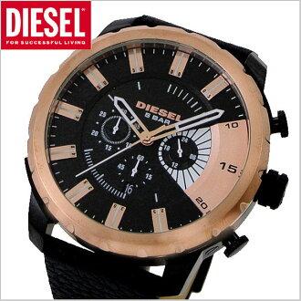 柴油柴油计时手表据点据点黑色 / 玫瑰金柴油 DZ4390