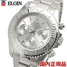 ELGIN エルジン 腕時計 クロノグラフ メンズ シルバー FK1120S