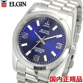 ELGIN エルジン 腕時計 メンズ 10年電池搭載 ブルー文字盤 FK1421S-BL