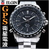 ELGIN Elgin GPS satellite radio watch mens ELGIN Elgin watch GPS2000S-B