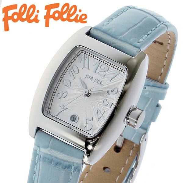 【2年保証】フォリフォリ FOLLI FOLLIE 腕時計 レディース/女性用 シルバー x ブルー S922-SVBL