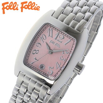 供forifori FOLLI FOLLIE手表女士/女性使用的粉红表盘WF5T080BDP