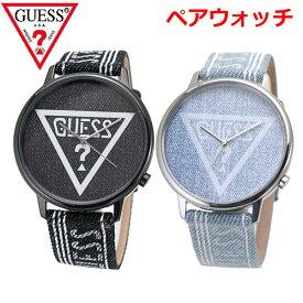 GUESS ゲス ペアウォッチ(2本セット)腕時計 オリジナルズ ブラック & ブルー デニム V1012M2 V1012M1