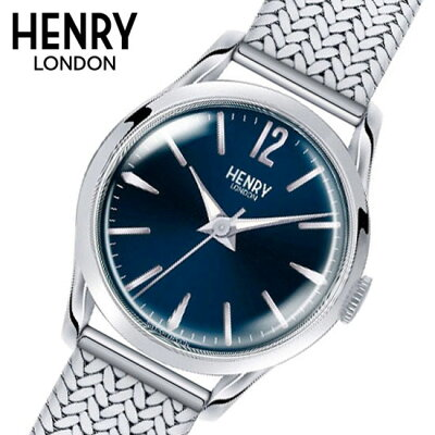 【ヘンリーロンドン】HENRYLONDON腕時計25mmレディースメッシュベルトブルーヘンリーロンドンHENRYLONDONナイツブリッジKnightsbridgeHL25-M-0109