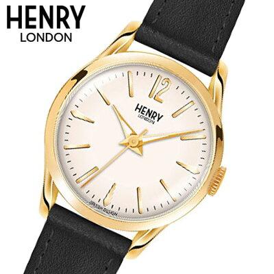 【ヘンリーロンドン】HENRYLONDON腕時計25mmレディース牛革ベルトホワイトxイエローゴールドヘンリーロンドンHENRYLONDONウェストミンスターWestminsterHL25-S-0002