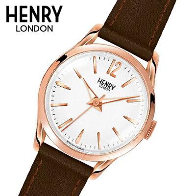 【ヘンリーロンドン】HENRYLONDON腕時計25mmレディース牛革ベルトホワイトxローズゴールドヘンリーロンドンHENRYLONDONリッチモンドRichmondHL25-S-0184
