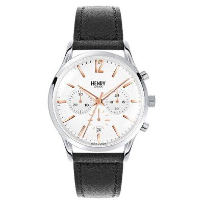 【ヘンリーロンドン】HENRYLONDON腕時計41mmクロノグラフメンズ牛革ベルトホワイトヘンリーロンドンHENRYLONDONハイゲートHighgateHL41-CS-0011