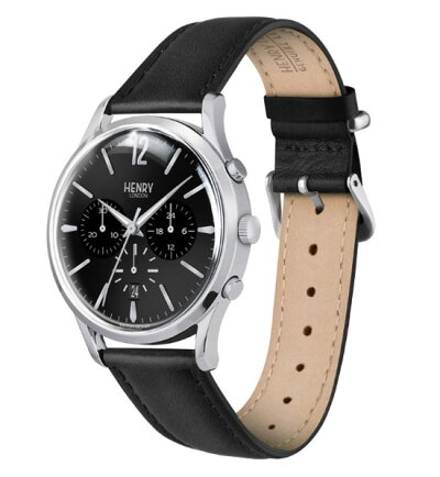 【ヘンリーロンドン】HENRYLONDON腕時計41mmクロノグラフメンズ牛革ベルトブラックヘンリーロンドンHENRYLONDONエッジウェアEgewareHL41-CS-0123