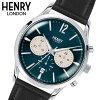 【ヘンリーロンドン】HENRYLONDON腕時計41mmクロノグラフメンズ牛革ベルトネイビーブルーxグレーヘンリーロンドンHENRYLONDONナイツブリッジKnightsbridgeHL41-CS-0039