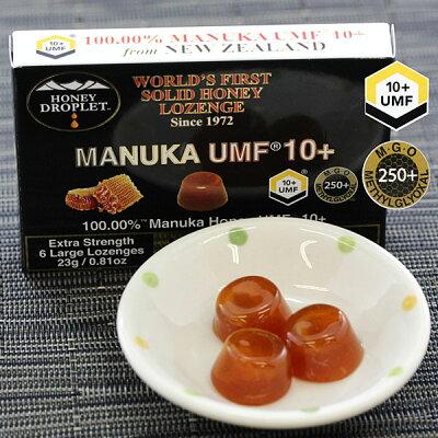 【ニュージーランド産100%】マヌカハニー蜂蜜ハチミツはちみつハニードロップレットUMF10+のど飴キャンディ6粒入りx3箱セットMHD-001-10