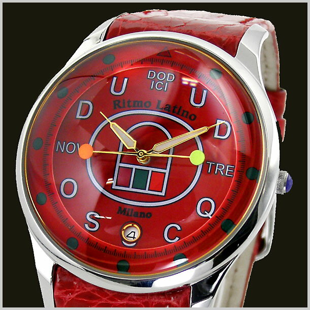 【リトモラティーノ】Ritmo Latino 腕時計 FINO(フィーノ)DODICI(ドディッチ) ラージサイズ/メンズ ワニ革 F-85DL【送料無料】
