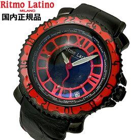 リトモラティーノ Ritmo Latino 腕時計 Viaggio(ビアッジョ)機械式(自動巻き)ブラック x レッド文字盤/裏スケルトン VA-35BK【送料無料】Ritmo Latino(リトモラティーノ)