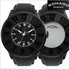 ロマゴデザイン腕時計 ROMAGO時計 ROMAGO DESIGN 腕時計 ロマゴデザイン 時計 NUMERATION(ヌメレーション) ミラーウォッチ 牛革ベルト/ブラック文字盤 ロマゴデザイン RM007-0053ST-BK【送料無料】