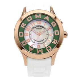 ロマゴデザイン腕時計 ROMAGO時計 ROMAGO DESIGN 腕時計 ロマゴ デザイン 時計 ATTRACTION(アトラクション) ミラーウォッチ シリコンラバーベルト/ホワイト x ローズゴールド/グリーン文字盤 ロマゴデザイン RM015-0162PL-RGGR【送料無料】