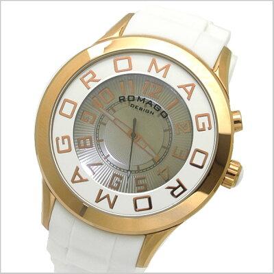 【ROMAGODESIGN】ロマゴデザイン腕時計NUMERATIONミラーウォッチ牛革ベルトRM007-0053ST-SV【送料無料】