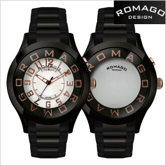 Roma go design watch ROMAGO watch watch Roma go ROMAGO DESIGN design watch ATTRACTION (attractions) Miller watch stainless steel belt / black x rose gold letter Edition RM015-0162SS-BKRG