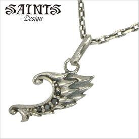 【SAINTS Design セインツ デザイン】 エンジェルウィングネックレス/ペンダント シルバー925製 SSP2-211BK【送料無料】
