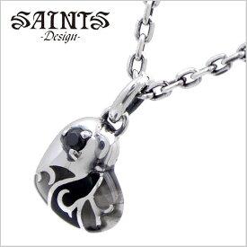 【SAINTS Design セインツ デザイン】ステンドグラスハートネックレス/ペンダント シルバー925製 SSP2-216BK【送料無料】