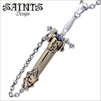 圣洁的剑银项链和吊坠 925 银-圣徒/SSP8-93