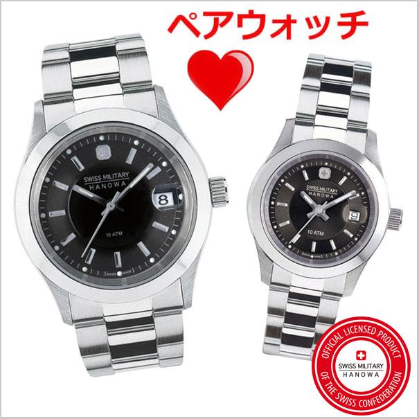 スイスミリタリー 腕時計SWISS MILITARY ペアウォッチ(男女2本セット) ELEGANT PREMIUM エレガントプレミアム メンズ&レディース HANOWA ML-300-ML-308 スイスミリタリー【スイス製】