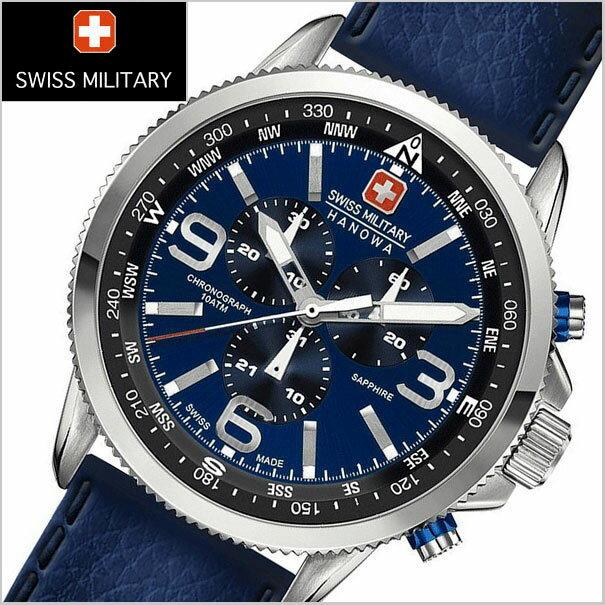 SWISS MILITARY スイスミリタリー 腕時計 クロノグラフ・ARROW(アロー) ブルー文字盤 メンズ ML-399