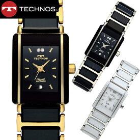 【テクノス】 TECHNOS 腕時計 レディース セラミック&ステンレススチール製 TSL906【送料無料】