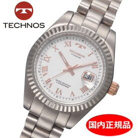 【テクノス】 TECHNOS 腕時計 レディース チタン製 TSL915IW
