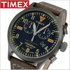 TIMEX Timex watches mens WATERBURY S.B.FOOT LEATHER CHRONO Waterbury S. B. foot Reza chronograph 42 mm/RED WING Redwing TIMEX Timex TW2P84100