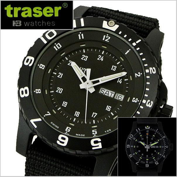 【クリーナープレゼント】traser(トレーサー) 腕時計 TYPE6 MIL-G ミルスペック 自己発光システム搭載 ミリタリーウォッチ サファイヤガラス P6600.41F.13.01