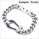 Zanipolo Terzini(ザニポロ・タルツィーニ)サージカルステンレス製 キヘイブレスレット 馬蹄モチーフ/メンズ・シル…