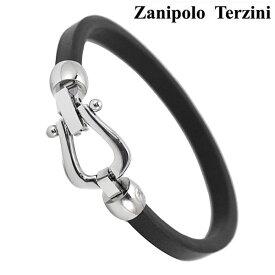 Zanipolo Terzini(ザニポロ・タルツィーニ)サージカルステンレス製 レザーブレスレット メンズ 馬蹄形 ホースシュー ザニポロタルツィーニ ZTB4100