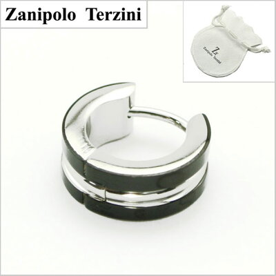 ZanipoloTerzini(ザニポロ・タルツィーニ)サージカルステンレス製ピアスZTE2208-BK(1個)