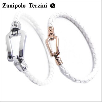 没有Zanipolo Terzini(zaniporo·tarutsuini)波动卡斯滕的製一对(男女2瓶一套)皮革手镯人&redisuzaniporotarutsuini ZTB2610-SSWH-SRGWH