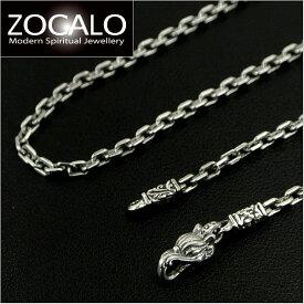 ZOCALO(ソカロ) アンカースクエア・ネックレスチェーン Mサイズ(幅3mm) 45cm (シルバー925製) ZZNLS-0004A-45