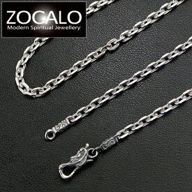 ZOCALO(ソカロ) アンカースクエア・ネックレスチェーン Lサイズ(幅4mm) 50cm (シルバー925製) ZZNLS-0015-50