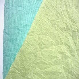 【綿 シルク ローン 先染 ストライプ シワ加工 2色 】コットン 77% シルク 23% 平織 ローン 2色綿 シルク 145cm幅 織物 ストライプ ワッシャー加工 ブラウス ハンドメイド 裁縫 縫製