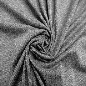 【大特価!綿 ポリエステル 鹿の子風ニット グレー】コットン 50% ポリエステル 50% ニット 生地 グレー165cm幅 カットソー トップス 生地 ニット 婦人服 裁縫 縫製 日本製