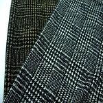 【ポリエステルマットストレッチポンチプリント2色】140cm幅グレンチェック柄ポリエステル98%ポリウレタン2%カットソーニット婦人服2WAY