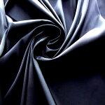 【ポリエステル100%サテン織物生地ブラック】110cm幅ポリエステル100%サテン織物無地ハンドメイド縫製婦人服テトロンエステル日本製