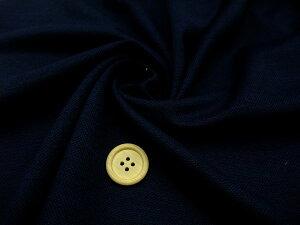 【ウール100%鹿の子ニット生地無地ダークネイビー】165cm幅ウール100%カラー:ネイビーカットソートップスカーディガン生地ニット裁縫縫製ソーイング日本製