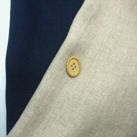 【リネン100% ブロークン ツイル 生地 2色】 140cm幅 カラー:2色 生成り・ネイビー 織物 無地ハンドメイド 裁縫 麻 リネン 布 日本製