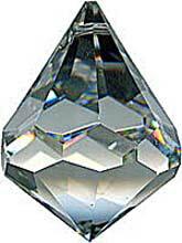 シャンデリアパーツ#8560【クリスタル】40mmベルトップ型コーン1穴スワロフスキー・クリスタル