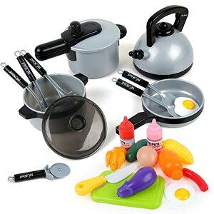 おままごと 調理器具セット Beebeerun 料理ごっこ 食器含み 10点セット 子供おもちゃ 男の子 女の子 知育玩具 キッチン