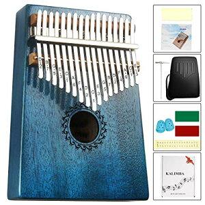カリンバ 17キー親指ピアノ kalimba EVA高性能保護ケース マホガニーキーポータブルムビラフィンガーピアノギフト子供とピアノ初心者