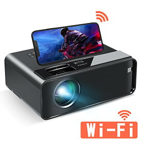ELEPHAS 小型 Wifiプロジェクター スマホと直接接続可 LED 4600lm 1920×1080最大解像度 内蔵スピーカー* 2 スマホ/パソコン/タブレ