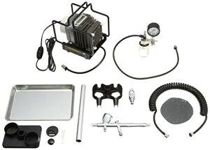 GSIクレオス Mr.リニアコンプレッサー L5/プラチナブラシ/圧力計付レギュレーターセット PS305