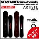 18-19 NOVEMBER ノベンバー スノーボード ARTISTE アーティスト