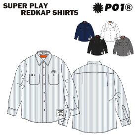P01 プレイ SUPER PLAY REDKAP SHIRTS シャツ PLAYDESIGN プレイデザイン 長袖