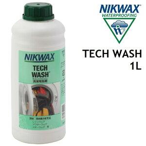 NIKWAX TECH WASH ニクワックス テックウォッシュ 1L ウェア 洗剤 撥水剤 洗濯 [EBE183]
